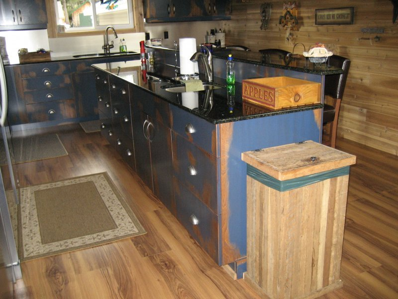 Blue Shell Cabinets