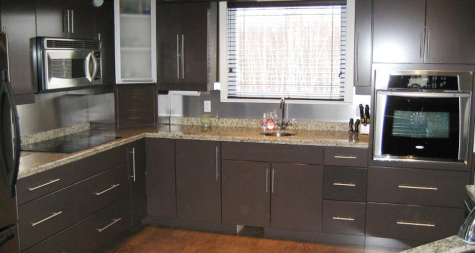 modern chocolate brown trand kitchens inc trand